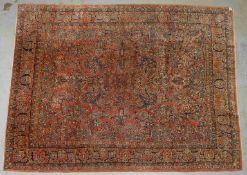 Exklusiver Sarough (USA), antik, gute Wollqualität, Pflanzenfarben, komplett