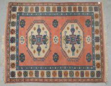 Kars-Kazak, mit weichem hohem Flor; Maße 222 x 189 cm