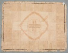 Lederteppich (Afrika), genäht, Patchwork in verschiedenen Farben/Musterungen; Maße 213 x