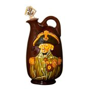Royal Doulton Vice Admiral Lord Nelson Kingsware Whisky Flask With Lord Nelson In High Relief