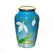 Moorcroft Miniature Enamel Floral Vase, Snowdrops