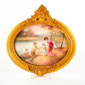 Royal Doulton Leslie Johnson Art Plaque, Lake Scene