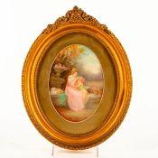 Royal Doulton Leslie Johnson Art Plaque, Mother And Child