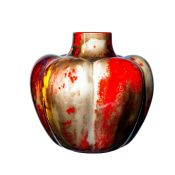 Royal Doulton Pumpkin Vase with Sung Flambe Glazing