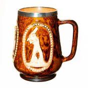 Doulton Lambeth Stoneware Mug, Cricketer