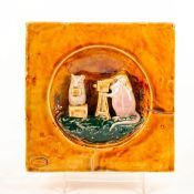 Doulton Lambeth George Tinworth Mouse Tile, Photography