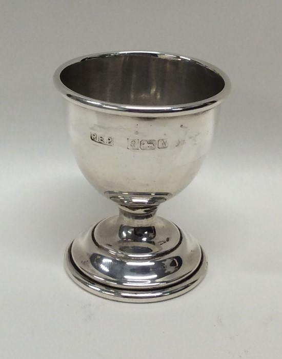 An Edwardian silver egg cup. Birmingham. Approx. 2