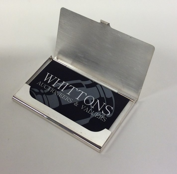 A heavy silver hinged top card holder. Birmingham. - Image 2 of 2