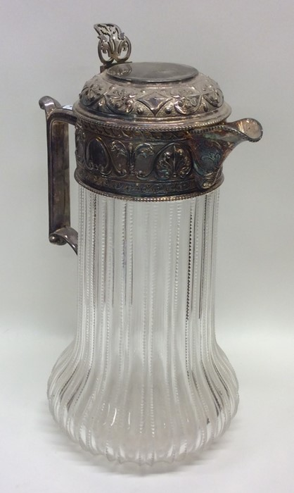 A good quality Edwardian silver mounted glass tape