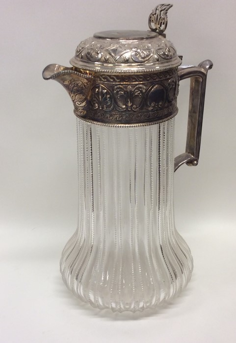 A good quality Edwardian silver mounted glass tape - Image 2 of 2