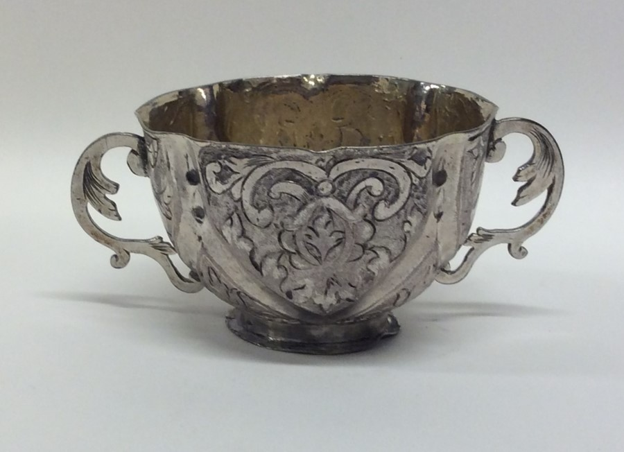 A Continental silver two handled cup with gilt int - Image 2 of 2