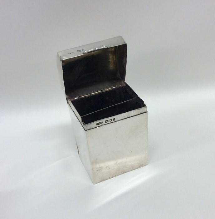 An unusual silver dome top double compartment box. - Image 2 of 2