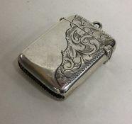 CHESTER: An Edwardian silver vesta case. Approx. 2