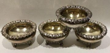 A good set of four silver salts of circular form o