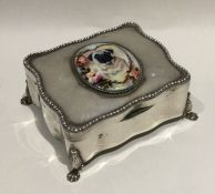 An unusual Edwardian shaped silver ring box attrac