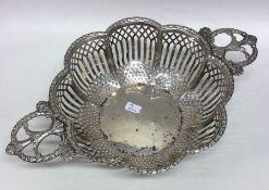 An attractive Edwardian silver pierced bonbon dish