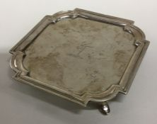 EXETER: A rare square salver with cut corners and