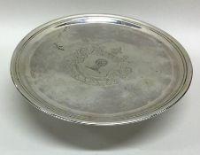 DUBLIN: A rare George II Irish silver tazza with c