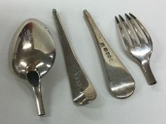 An unusual pair of OE pattern silver travelling cu