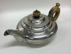 A good Georgian silver squat bachelor's teapot wit