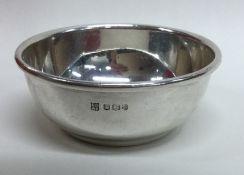 A small heavy silver bowl. Sheffield. by CB&S. App
