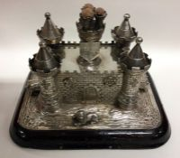 A rare and unusual Victorian novelty silver combin