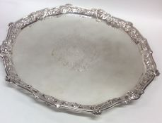 A good quality Georgian cast silver circular salve