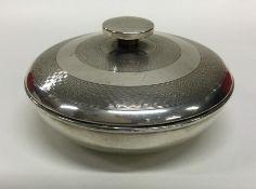 An Art Deco silver and Bakelite powder jar. Birmin