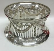 DUBLIN: A good Irish silver dish ring of typical f
