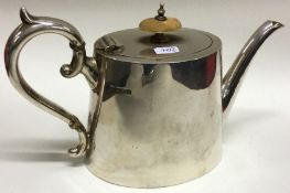 An Edwardian silver tapering teapot. Sheffield. By
