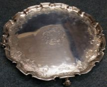 A good quality large Georgian silver circular slav
