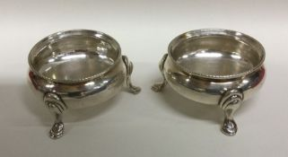 A pair of good quality Victorian silver salts. Lon