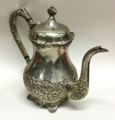 A Continental silver plated teapot. Est. £20 - £30