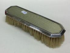 A silver mounted brush. Birmingham. Approx. 94 gra