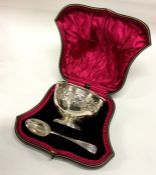 A good cased silver christening bowl chased with f