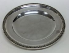 An early 19th Century French circular silver waite