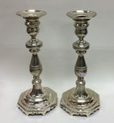 A good pair of Continental Antique cast silver can
