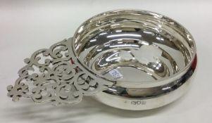 A good quality pierced silver bleeding bowl of typ