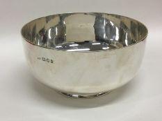 A good heavy silver sugar bowl of plain form on sp