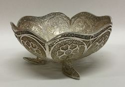 A stylish Continental silver bowl with floral deco
