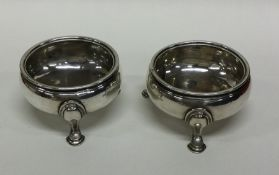 A pair of George II silver salts. London 1738. By