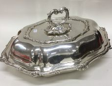 A good heavy silver plated entrée dish and cover.