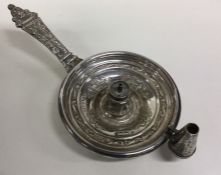 An Edwardian silver Aladdin's' lamp decorated with