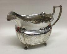 CORK: An Irish silver Provincial cream jug with ga