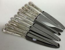 A set of ten Kings' pattern silver handled table k