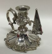 A good quality Victorian silver chamber stick deco