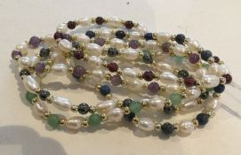 Four strings of pearls. Approx. 22 grams. Est. £10