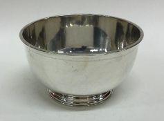 A good quality silver sugar bowl. London 1900. By