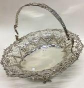 A fine quality Victorian silver pierced cake baske