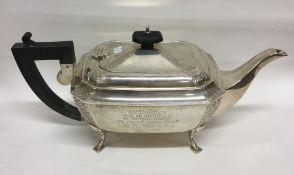 A good quality Edwardian silver teapot. Birmingham